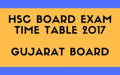 12th Science Board Exams Schedule 2017 in Gujarat